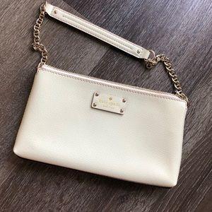 Kate spade Cream purse with gold chain strap